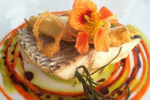 Seabass-Courgette-Flowers
